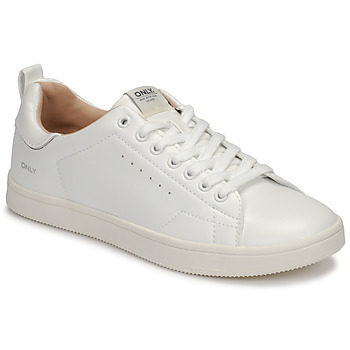 Scarpe Donna Sneakers basse Only SHILO PU Bianco / Argento