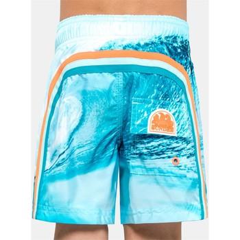 Abbigliamento Unisex bambino Costume / Bermuda da spiaggia Sundek B504BDP03TW 006 Bianco