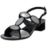 Scarpe Donna Sandali Linea Uno Sandalo nero/acciaio