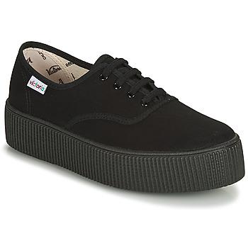 Scarpe Donna Sneakers basse Victoria 1915 DOBLE LONA PISO NEG Nero