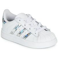 Scarpe Bambina Sneakers basse adidas Originals SUPERSTAR EL I Bianco / Argento