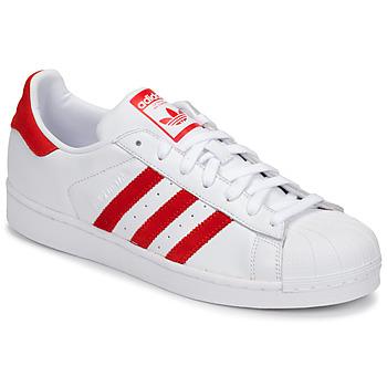 Scarpe Sneakers basse adidas Originals SUPERSTAR Bianco / Rosso