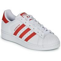 Scarpe Unisex bambino Sneakers basse adidas Originals SUPERSTAR J Bianco / Rosso
