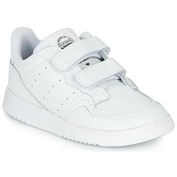 Scarpe Unisex bambino Sneakers basse adidas Originals SUPERCOURT CF I Bianco