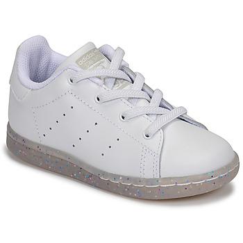 Scarpe Bambina Sneakers basse adidas Originals STAN SMITH EL I Bianco / Glitter