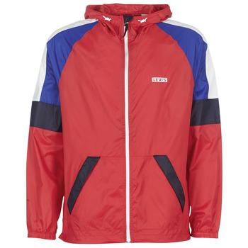 Abbigliamento Uomo giacca a vento Levi's COLORBLOCK WINDRUNNER Rosso / Blu