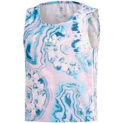 Abbigliamento Bambina Top / T-shirt senza maniche Adidas Kids MARBLE CRP TANK azurro