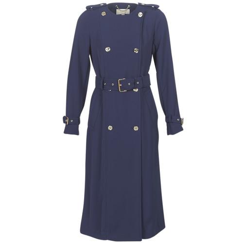 Abbigliamento Donna Trench MICHAEL Michael Kors COLLARLESS TRENCH Marine