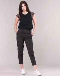 Abbigliamento Donna Pantaloni 5 tasche Betty London LAALIA Nero / Bianco