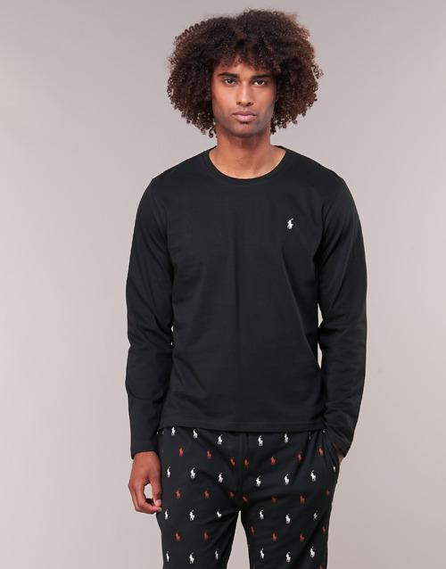 Abbigliamento Uomo T-shirts a maniche lunghe Polo Ralph Lauren L/S CREW-CREW-SLEEP TOP Nero