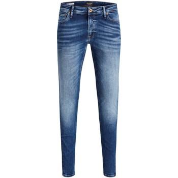 Abbigliamento Uomo Jeans slim Jack & Jones 12144207 Blu