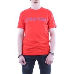 Abbigliamento Uomo T-shirt maniche corte Calvin Klein Jeans k10k103078-cotton-front-logo-tee 666-rosso