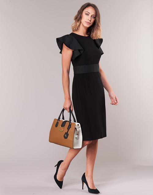 Dress Ralph Abiti 19900 Jersey Consegna Gratuita Cocktail Nero Abbigliamento Lauren Sleeveless Donna Corti QrBoCdxWe