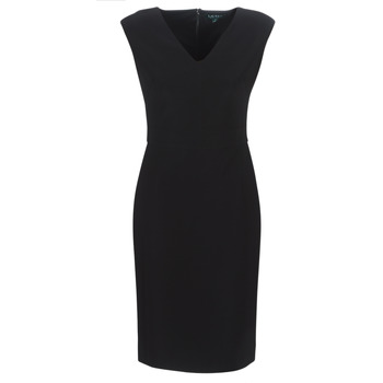 Abbigliamento Donna Abiti lunghi Lauren Ralph Lauren BLACK CAP SLEEVE DAY DRESS Nero