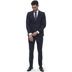 Abbigliamento Uomo Completi Angelo Nardelli Abito da uomo 2 bottoni Blu Lana vergine Uomo blu