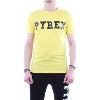 Abbigliamento Uomo T-shirt maniche corte Pyrex 19EPB34200 Giallo