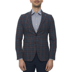 Abbigliamento Uomo Giacche / Blazer Angelo Nardelli Giacca 2 bottoni Blu/rosso Lana Uomo blu/rosso
