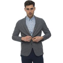 Abbigliamento Uomo Giacche / Blazer Angelo Nardelli Giacca 2 bottoni Blu Cotone Uomo blu