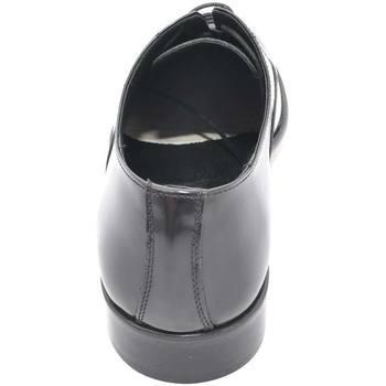 Scarpe Uomo Derby & Richelieu Malu Shoes Scarpe uomo francesina nera pelle lucida fondo cuoio antiscivol NERO