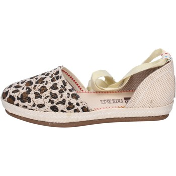 Scarpe Donna Espadrillas O-joo sandali tela beige
