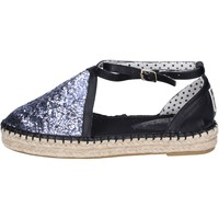 Scarpe Donna Espadrillas O-joo sandali glitter pelle sintetica argento