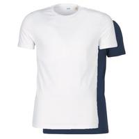 Abbigliamento Uomo T-shirt maniche corte Levi's SLIM 2PK CREWNECK 1 Marine / Bianco
