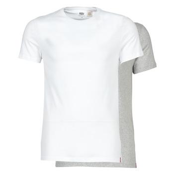 Abbigliamento Uomo T-shirt maniche corte Levi's SLIM 2PK CREWNECK 1 Bianco / Grigio