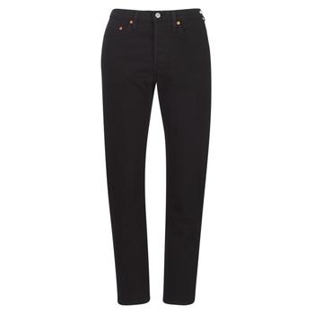Abbigliamento Donna Jeans boyfriend Levi's 501 CROP Black / Cuore