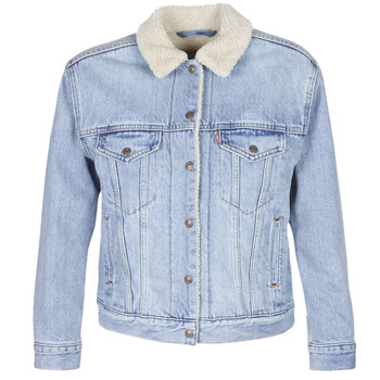 Abbigliamento Donna Giacche in jeans Levi's EX-BF SHERPA TRUCKER Strangerways
