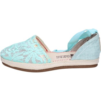 Scarpe Donna Espadrillas O-joo sandali tessuto verde