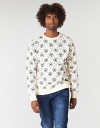 Abbigliamento Uomo Felpe Scotch & Soda CREWNECK SWEAT WITH LOGO ALL-OVER PRINT Bianco