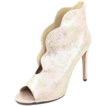 Scarpe Donna Tronchetti Malu Shoes SANDALO TACCO DONNA SPUNTATO CHAMPAGNE CON TACCO A SPILLO 12 EF ROSA