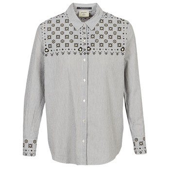 Abbigliamento Donna Camicie Maison Scotch BUTTON UP SHIRT WITH BANDANA PRINT Grigio