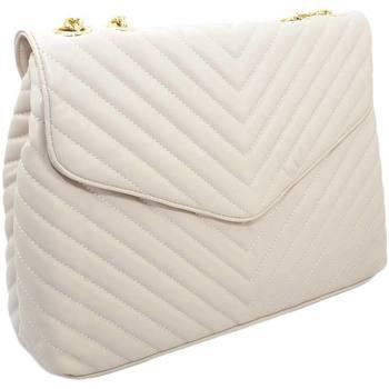 Borse Donna Borse a mano Malu Shoes Borsa donna beige striata a portafoglio 3 scopartimenti chiusur BEIGE
