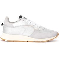 Scarpe Donna Sneakers basse Philippe Model Paris Sneaker Montecarlo in pelle e glitter argento Argento