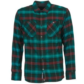 Abbigliamento Uomo Camicie maniche lunghe DC Shoes VIBRATION Nero / Blu / Rosso