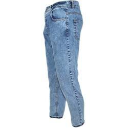 Abbigliamento Uomo Jeans slim Malu Shoes Jeans uomo denim lavaggio graduale slim fit a cavallo basso 4 t BLU
