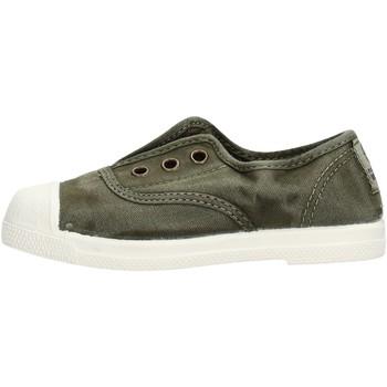Scarpe Bambino Sneakers basse Natural World - Slip on da Bambino Verde in Pelle 470E