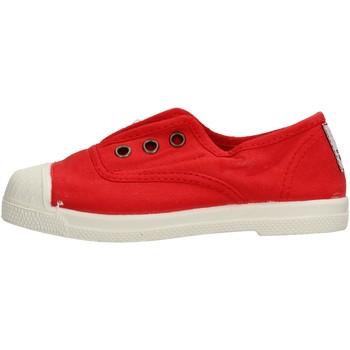 Scarpe Bambino Sneakers basse Natural World - Slip on da Bambino Rosso in Pelle 470-502