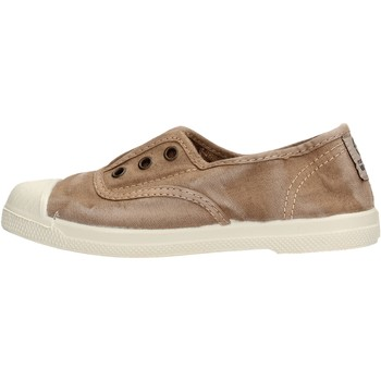 Scarpe Bambino Sneakers basse Natural World - Slip on da Bambino Beige in Tela 470E-621