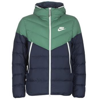 Abbigliamento Uomo Piumini Nike M NSW DWN FILL WR JKT HD Marine / Verde