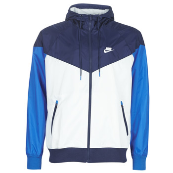 Abbigliamento Uomo giacca a vento Nike M NSW HE WR JKT HD Blu / Bianco