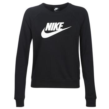 Abbigliamento Donna Felpe Nike W NSW ESSNTL CREW FLC HBR Nero