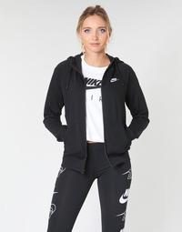 Abbigliamento Donna Felpe Nike W NSW ESSNTL HOODIE FZ FLC Nero