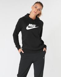 Abbigliamento Donna Felpe Nike W NSW ESSNTL HOODIE PO  HBR Nero