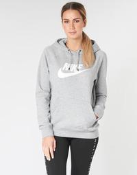 Abbigliamento Donna Felpe Nike W NSW ESSNTL HOODIE PO  HBR Grigio
