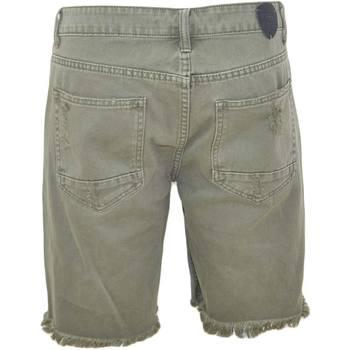 Abbigliamento Uomo Shorts / Bermuda Malu Shoes Pantoloni corti short uomo bermuda in jeans verde militare con VERDE