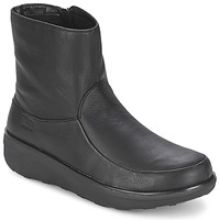 Scarpe Donna Stivaletti FitFlop LOAFF SHORTY ZIP BOOT Nero