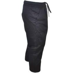 Abbigliamento Uomo Pantaloni Malu Shoes Pantaloni modello etnico uomo nero con molla in vita e laccio c NERO