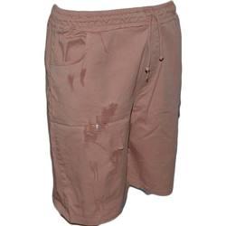 Abbigliamento Uomo Shorts / Bermuda Malu Shoes Pantaloncino uomo shorts man sportivo rosa tessuto leggero con ROSA